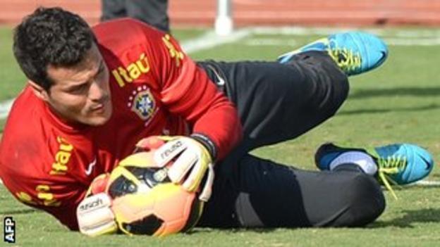 Brazil goalkeeper Julio Cesar
