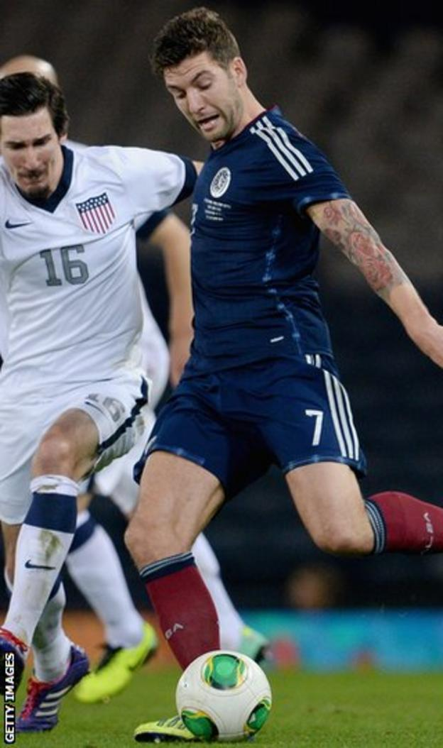 Charlie Mulgrew in action against USA