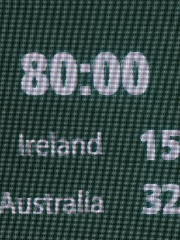 The full-time score at the Aviva Stadium was a sorry sight for Irish supporters