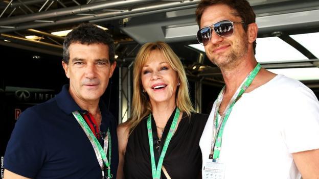 Antonio Banderas, Melanie Griffiths and Gerard Butler