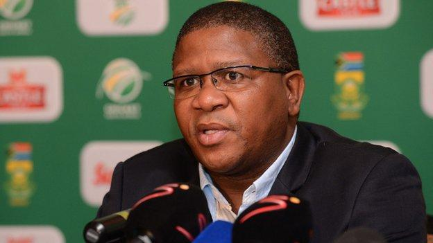 South Africa's Minister of Sport Fikile Mbalula,