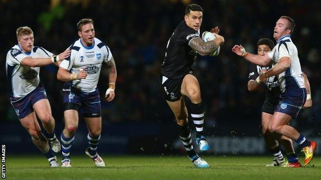 Sonny Bill Williams in action against Scotland