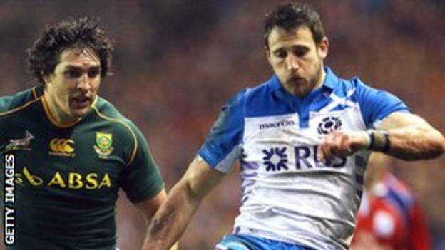 Tommy Seymour (right) in action against South Africa