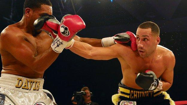 James DeGale (right) and Dyah Davis