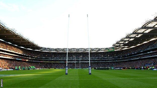 Croke Park staged Ireland internationals and other major rugby games between 2007 and 2010