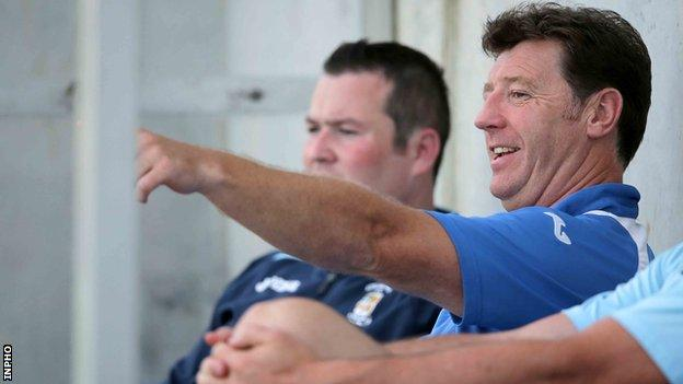 Roddy Collins led Athlone Town to this year's First Division title