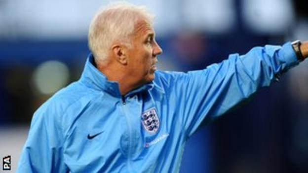England's interim coach Brent Hills