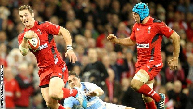 George North and Justin Tipuric