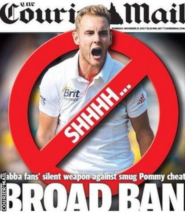 The Brisbane Courier Mail's front page