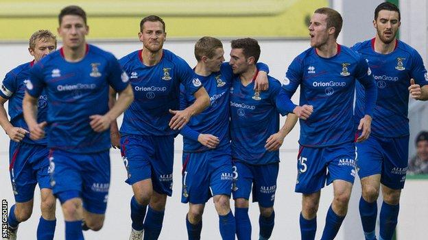 Inverness are second in the Premiership