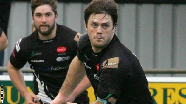 Ben Hilton in action against Cambridge.