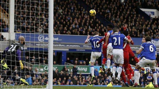 Daniel Sturridge equalises in the 89th minute against Everton