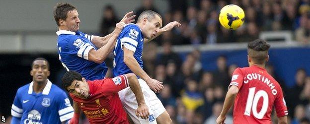 Everton 3-3 Liverpool at Goodison Park