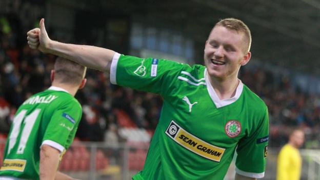 Martin Murray impressed with a brace of goals as Cliftonville drew with Portadown at Shamrock Park