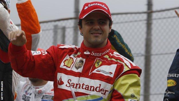 Felipe Massa after his final race for Ferrari