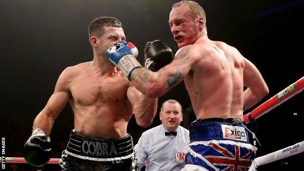 Carl Froch (left) and George Groves