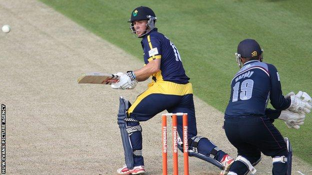 Mark Wallace in T20 action for Glamorgan