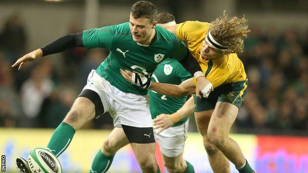 Robbie Henshaw in action against Australia earlier this month