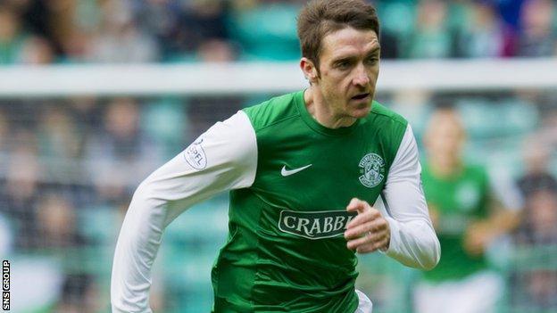 Hibs striker Paul Heffernan