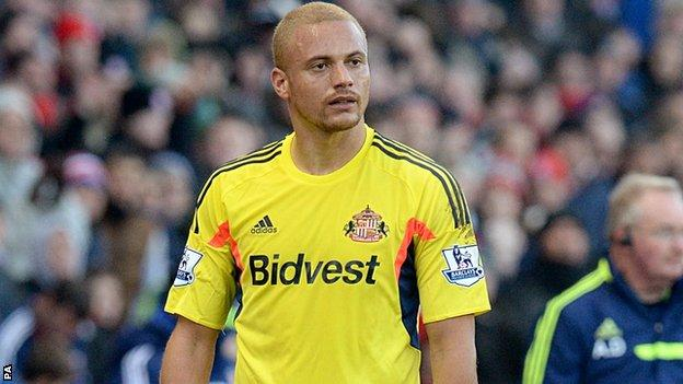 Sunderland defender Wes Brown following his red card against Stoke