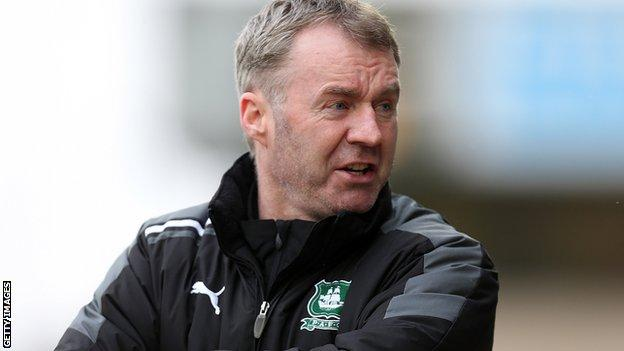 Plymouth Argyle manager John Sheridan.