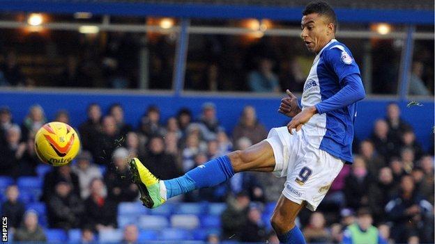On-loan Birmingham City striker Jesse Lingard scores at St Andrew's