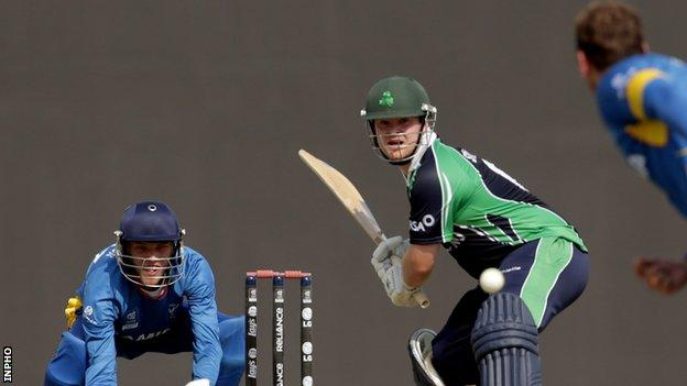 Paul Stirling in action against Namibia in last year's ICC World Twenty20 qualifiers