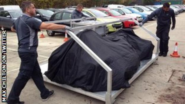 Max Chilton's car returns from Brazil