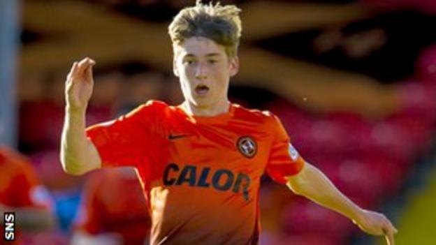 Dundee United midfielder Ryan Gauld