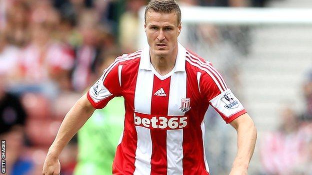 Stoke defender Robert Huth