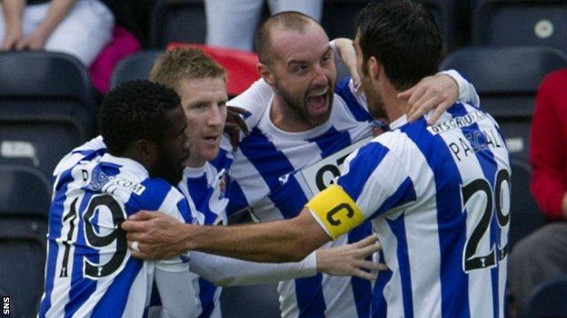 Kilmarnock players celebrating