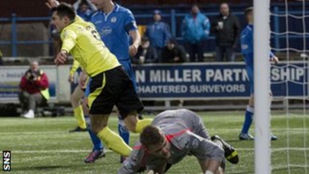Steven Thompson's sixth goal of the season had given St Mirren a 2-1 lead