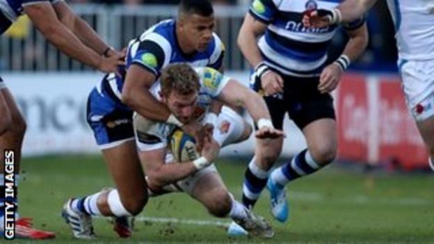 Matt Jess is tackled by Anthony Watson