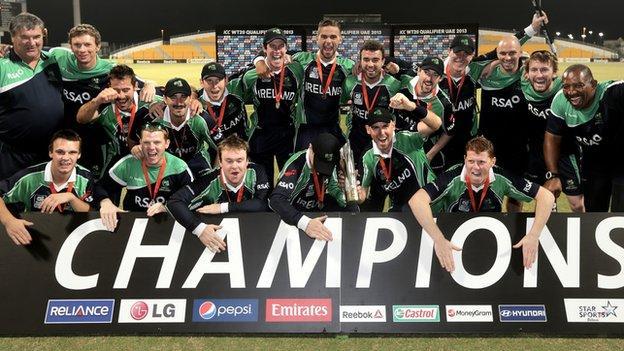 Ireland celebrate their World Twenty20 qualifier success