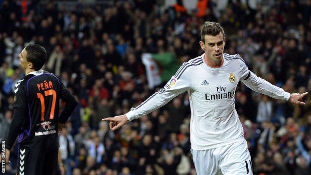 Gareth Bale scored as Real Madrid won