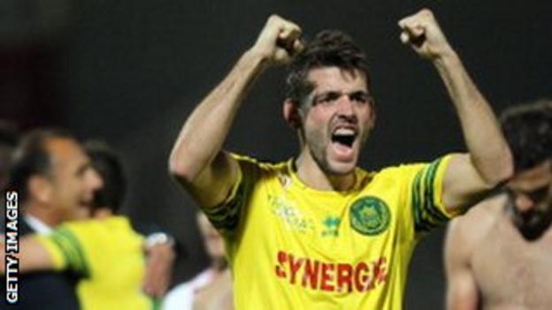 Nantes forward Filip Djordjevic