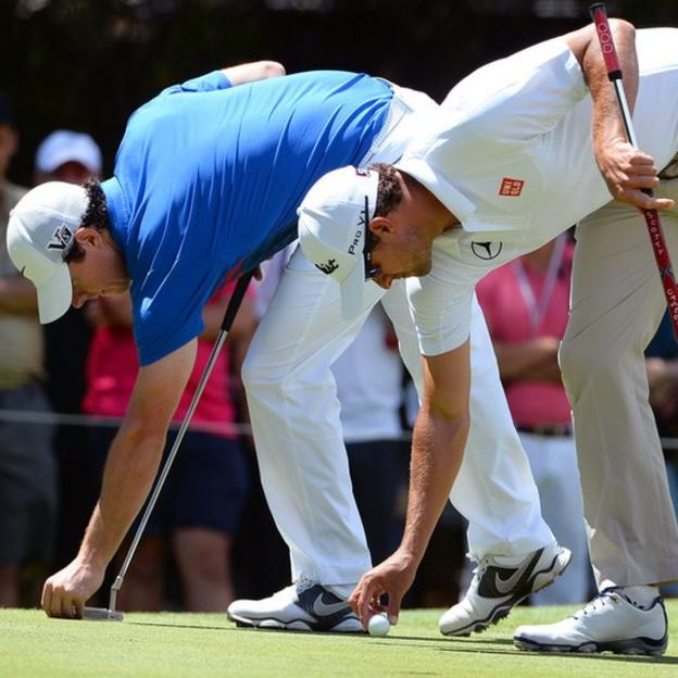 Rory McIlroy and Adam Scott were involved in an exciting final-day duel for the Australian Open title