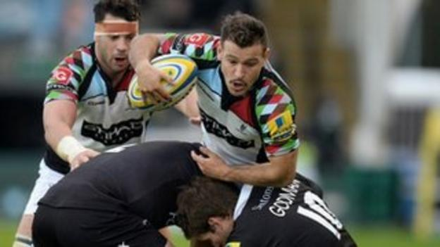 Danny Care takes the ball into contact