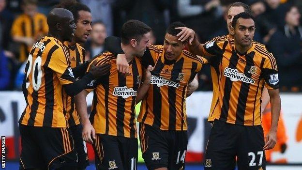 Jake Livermore celebrates scoring for Hull