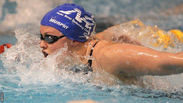 Grainne Murphy on her way to winning the 400m individual medley final