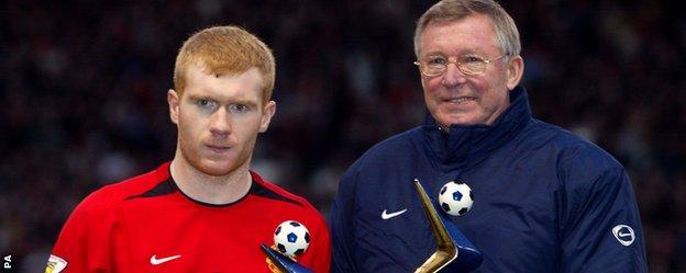 Paul Scholes, Sir Alex Ferguson