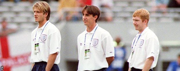 David Beckham, Gary Neville, Paul Scholes,