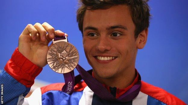 Tom Daley Olympic bronze medal
