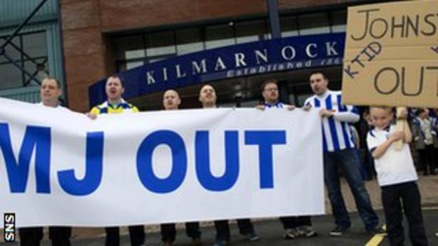 Kilmarnock fans protest