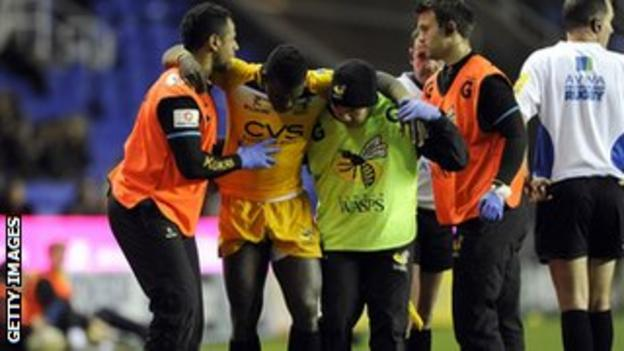 Wasps winger Christian Wade picked up an injury against London Irish