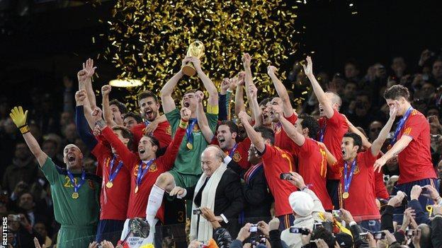 Spain 2010 World Cup winning national football team