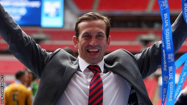 Newport County manager Justin Edinburgh.