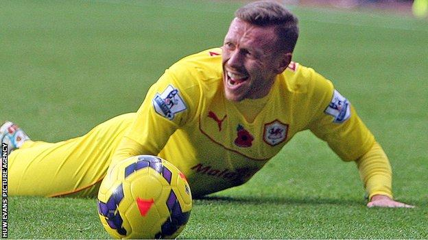 Craig Bellamy complains to the referee after being fouled