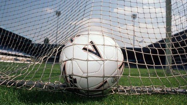 football in the net