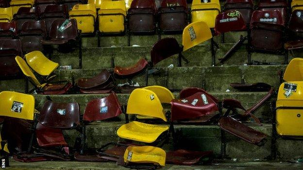 Seats ripped out at Fir Park